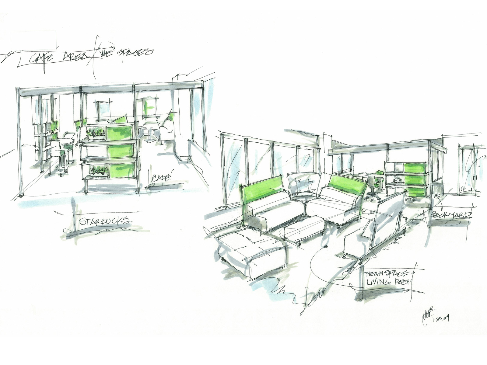 Intra Space Design Sketch